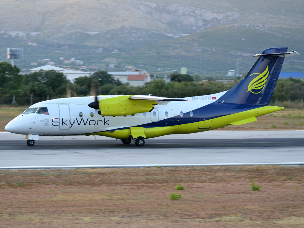 Dornier 328-110 SkyWork Airlines HB-AEO Split_Resnik (SPU/LDSP) August_04_2012