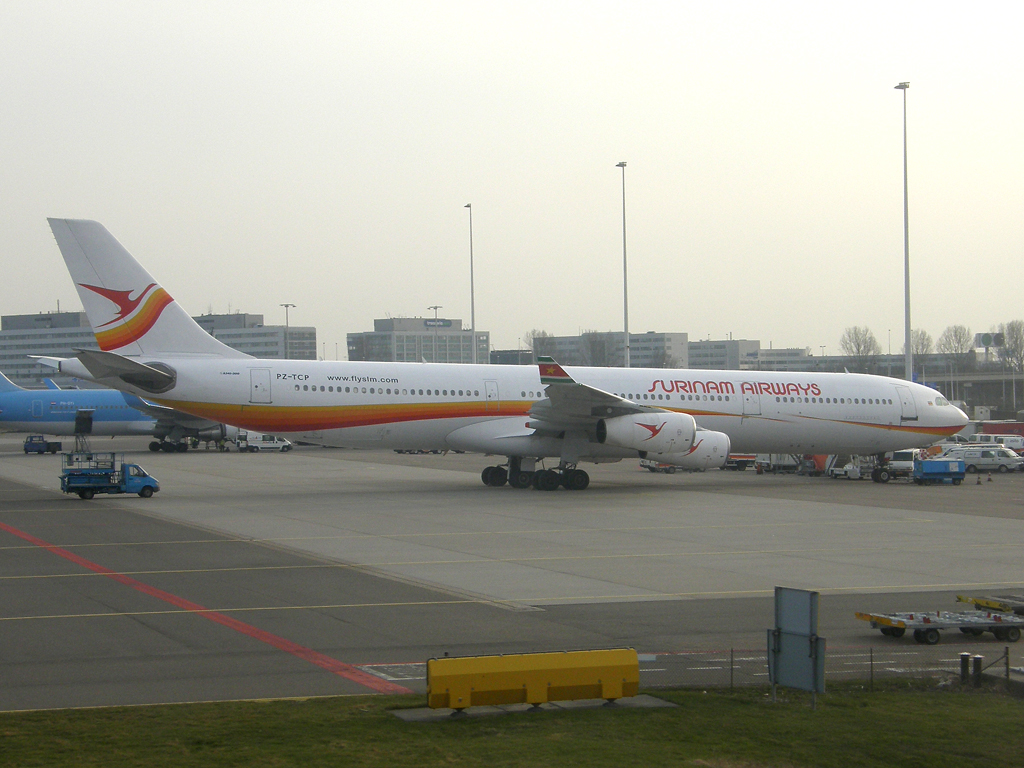 A340-311 Surinam Airways PZ-TCP Amsterdam_Schiphol March_12_2011