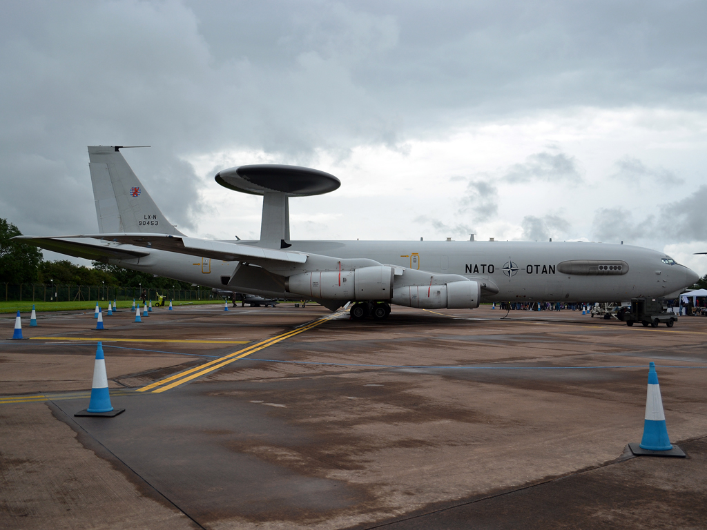 B707-300 E-3A Sentry NATO Luxembourg LX-N90453 Fairford (FFD/EGVA) July_07_2012