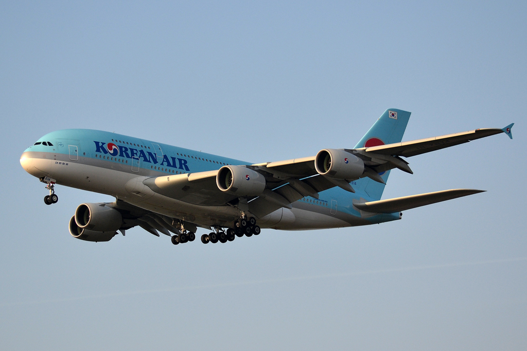 A380-861 Korean Air HL7614 Prague_Ruzyne (PRG/LKPR) March_14_2014