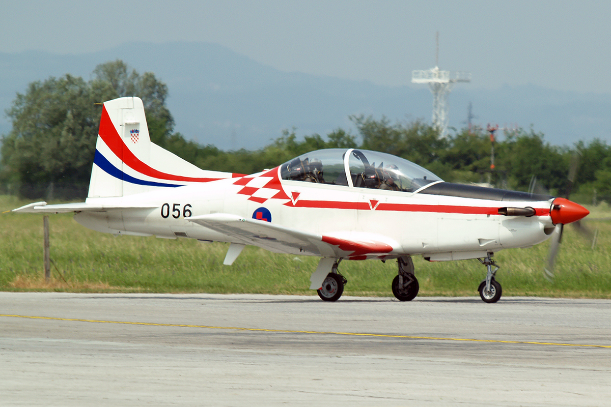 Pilatus PC-9M Croatia Air Force HRZ 056 Zagreb_Pleso May_12_2007 A