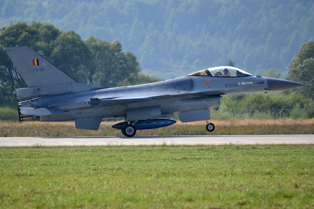 General Dynamics F-16AM Fighting Falcon Belgium Air Force F-95 Sliac (SLD/LZSL) August_27_2011