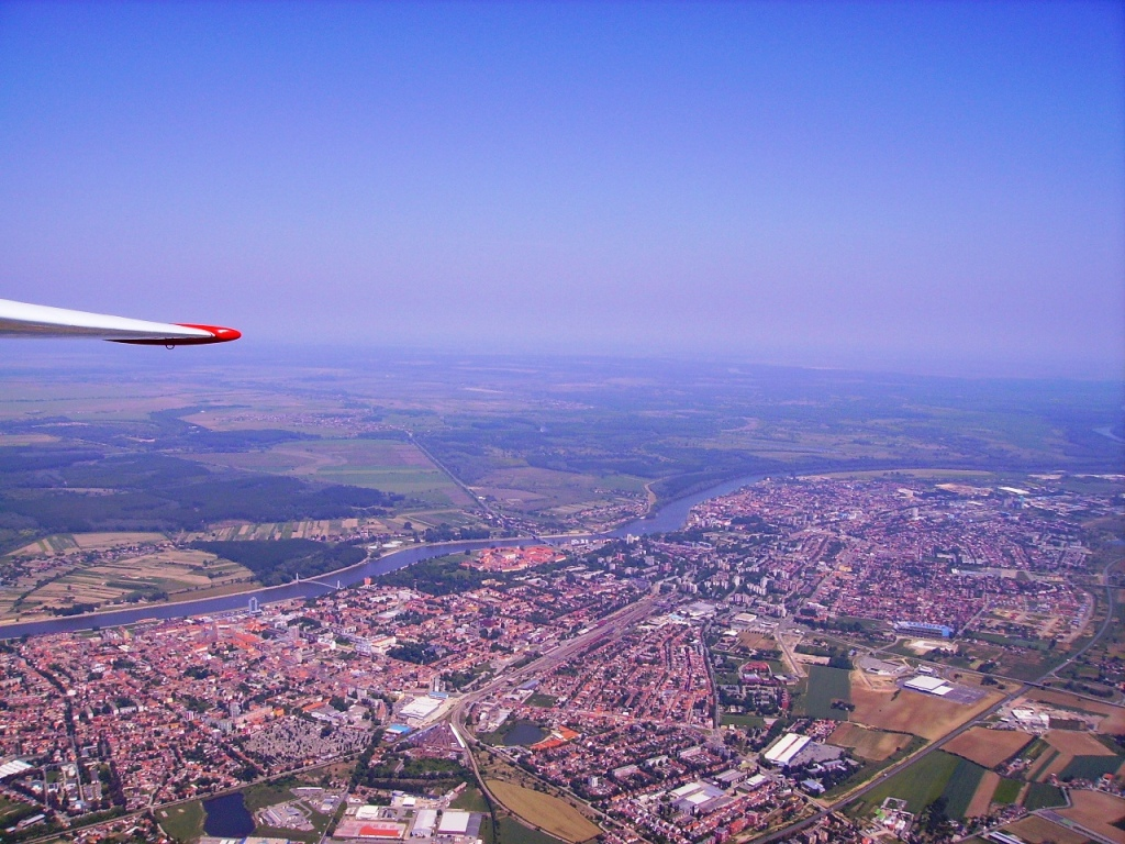 Osijek airview from Blanik L-13 9A-GBE