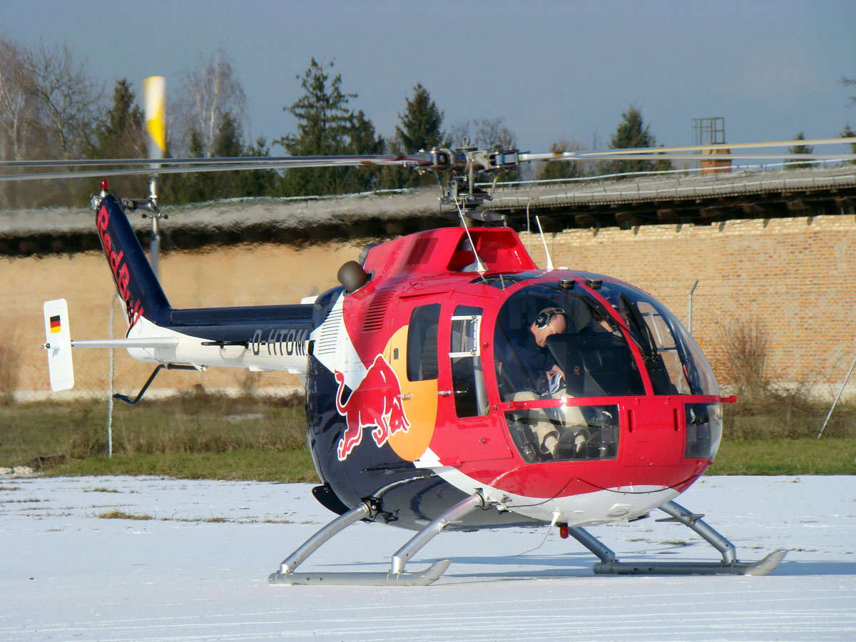 MBB BO-105CB-4 D-HTDM Red Bull Zagreb_Lucko (LDZL) January_3_2009