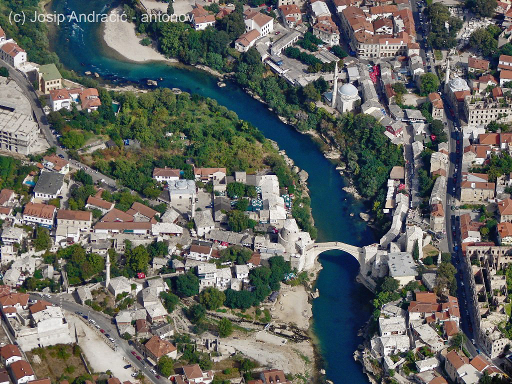 Mostar airview from Reims FR172J Reims Rocket 9A-DDK
