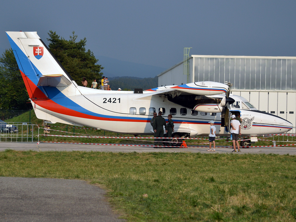 Let L-410UVP-E Turbolet Slovakia Air Force 2421 Sliac (SLD/LZSL) August_27_2011