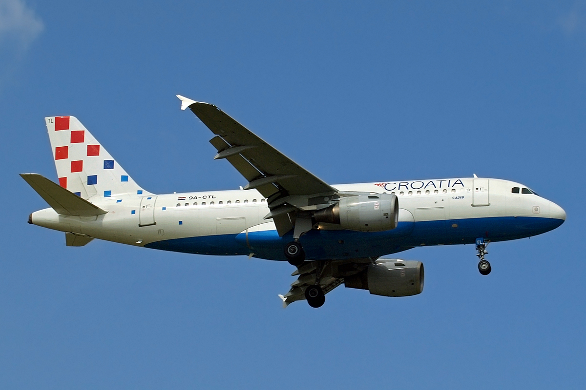 A319-112 Croatia Airlines 9A-CTL Zagreb_Pleso September_17_2008