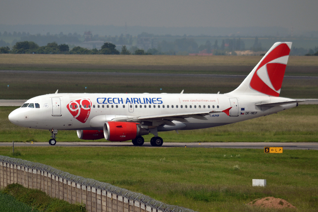 A319-112 CSA Czech Airlines OK-NEP Prague_Ruzyne (PRG/LKPR) June_07_2013