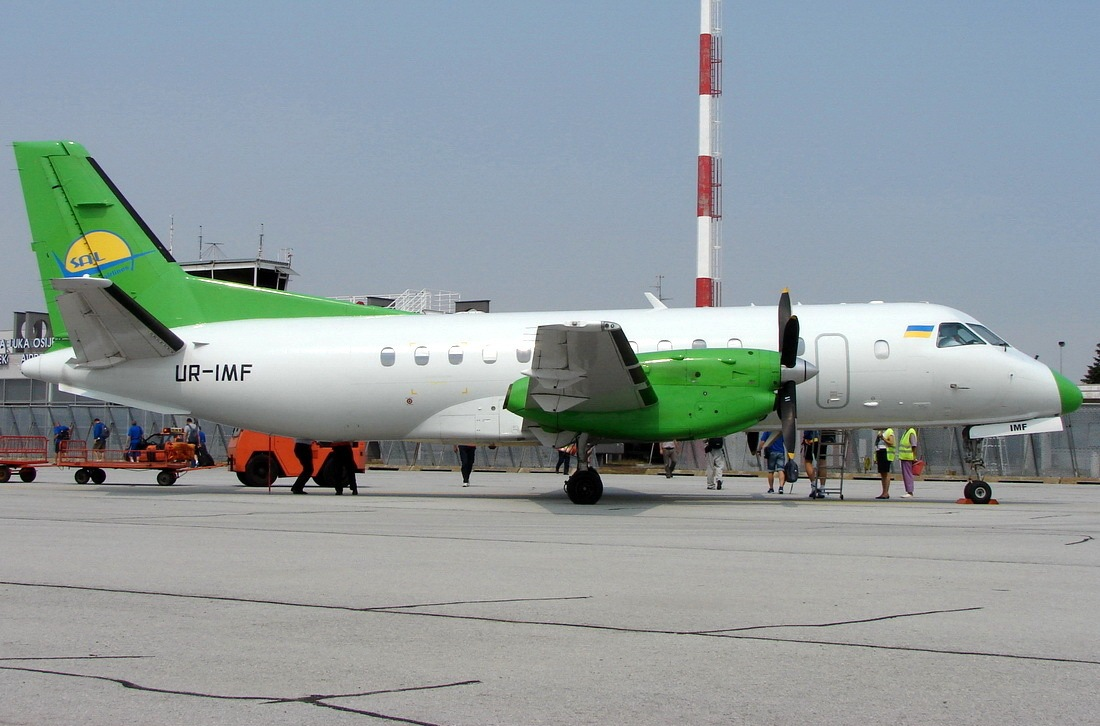 Saab SF-340B(QC) South Airlines UR-IMF Osijek-Klisa (OSI/LDOS) September_04_2012