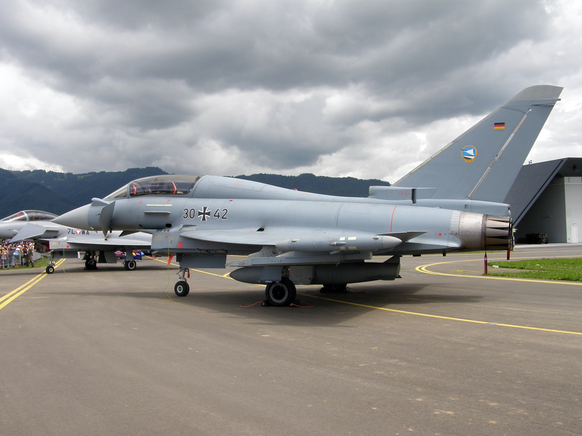 Eurofighter EF-2000T Typhoon Germany Air Force (Luftwaffe) 30+42 Zeltweg (LOXZ) June_27_2009