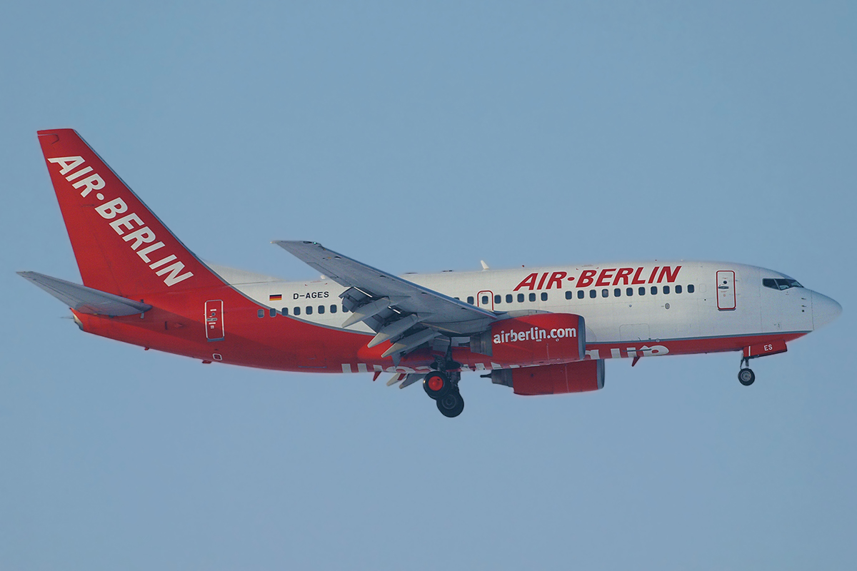 B737-75B Air Berlin (Germania) D-AGES Zagreb_Pleso December_20_2009
