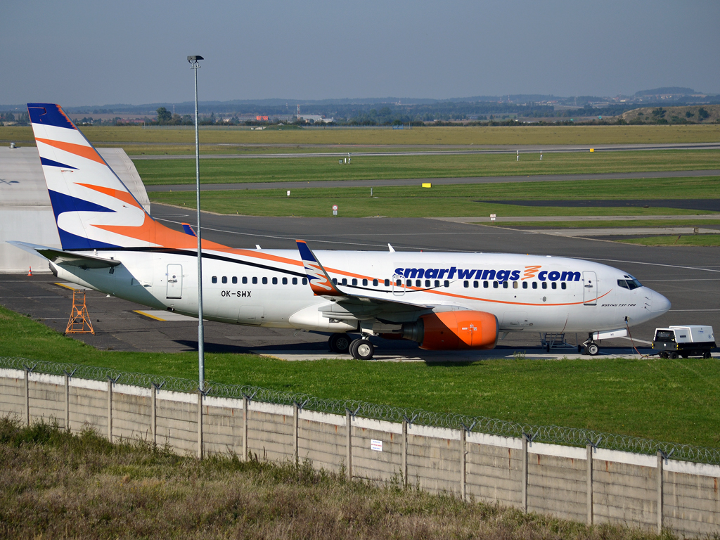 B737-76N Smart Wings (Travel Service) OK-SWX Prague_Ruzyne (PRG/LKPR) September_30_2012