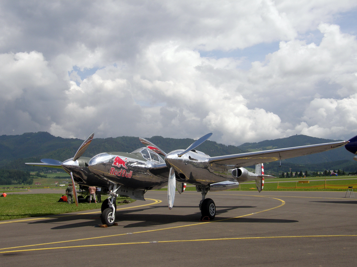 Lockheed P-38L Lightning The Flying Bulls N25Y Zeltweg (LOXZ) June_27_2009